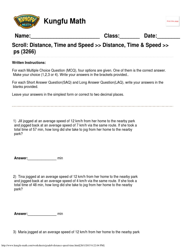Worksheets Speed Distance Time Worksheet speed distance time worksheet year 7 livinghealthybulletin singapore math worksheets grade 6 and time