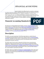 Needs for Financial Accounting Standard