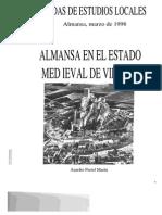 Almansa en El Estado Medieval de Villena. Jornadas de Estudios Locales. Almansa 1998. Aurelio Pretel Marín