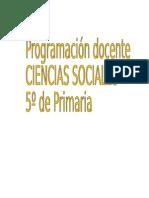 Programacion Docente Ciencias Sociales 5º