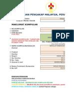 Borang Pendaftaran 2015 Perak Tengah
