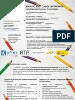 Cartel Cursos Certificados de Valladolid