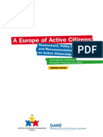 A Europe of Active Citizens Conference Summary Report