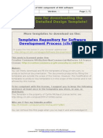 Software Detailed Design Template
