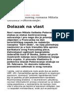 Mišel Uelbek - Pokoravanje - ODLOMAK -Dolazak na vlast