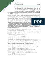 Tasas y Precios Públicos de La Comunidad Autónoma de Extremadura 2015