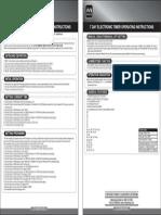 Masterplug Electronic Timer Instruction (E)