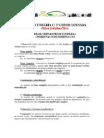 Oracoes Coordenadas e Subordinadas Ficha Informativa