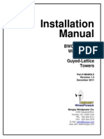Excel 5 Guyed Lattice Tower Installation Manual