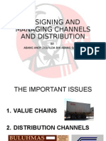 Designing and Managing Channels and Distribution