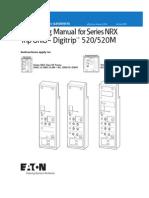 Digitrip 520&520M Trip Units for Series NRX Circuit Breakers