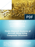 Finite Element Analysis of Aircraft Wing Using Composite Structure