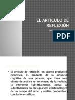 El Artículo de Reflexión