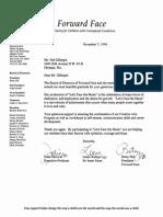 Face Forward Letter