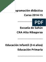 Programacion Didactica Sahun 2014-15