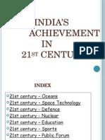 india's achievements in 21st century