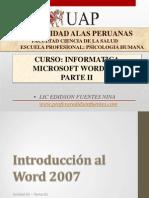 Microsoft Office 2007 Parte II- 2015
