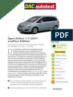 Opel Zafira 17 CDTI EcoFlex Edition