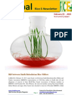 23 February,2015 Daily Global Rice E_Newsletter by Riceplus Magazine