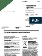 Manual Sony HDV A1