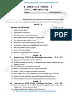 2nd PU Physics Model QP 3