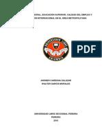 Estudio Universidad Libre - Mercado Laboral y Migracion