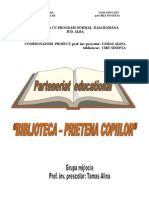 Proiect Educational Biblioteca Alina