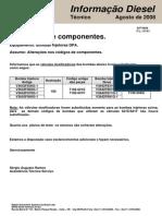 Circular Delphi Substituição Válvulas Dosificadoras