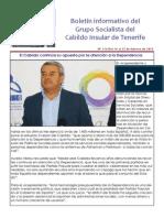 Boletín del Grupo Socialista del Cabildo de Tenerife 114. 16 - 22 de febrero 2015