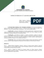 INSTRUÇÃO NORMATIVA N.º 01, DE 06 DE ABRIL DE 2001001