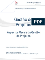 Aspectos Gerais Da Gestao de Projetos