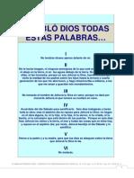 3) Y HABLÓ DIOS TODAS ESTAS PALABRAS...