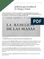 Los Imbéciles Políticos Que Invadían El Pensamiento de Ortega y Gasset