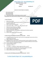 2nd PU Chemistry Model QP 2