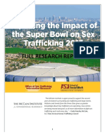 Exploring the Impact of the Super Bowl on Sex Trafficking 2015