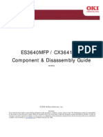OKI ES3640MFP/CX3641 MFP Component & Disassembly guide