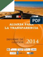 Alianza para la Transparencia. Informe de Gestión 2014