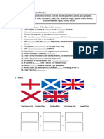 All About Britain exam. 1º ESO.