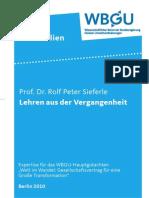 Lehren aus der Vergangenheit - Von Rolf Peter Sieferle