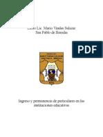 Protocolo para el Control de Ingreso de Particulares a La Instituciòn