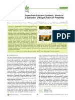 ACS Sustainable Chemistry and Engineering Rigid Polyurethane Foams From Cardanol Synthesis, Structural Characterization, And Evaluation of Polyol and Foam Properties