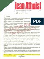 American Atheist Magazine Oct 1985