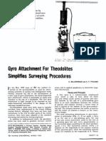Mine Surveying-Gyro-Theodolite