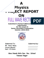 Project Report full wave rectifier