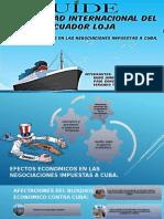 Efectos Economicos en Las Negociaciones Impuestas a Cuba.