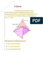 Compound Curve Reversed Curve Spiral Curve