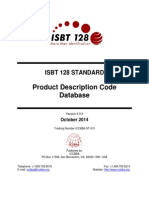 ST 010 ISBT 128 Standard Product Description Code Database v6.0.0