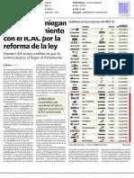 Las 'big four' niegan un enfrentamiento con el ICAC por la reforma de la ley