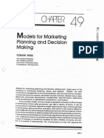 8601 Models for Marketing Planning And