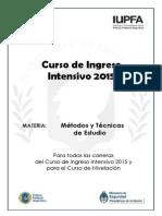 Cuadernillo Metodos y Tecnicas de Estudio 2015